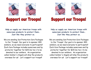 support out troops